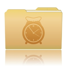 Folder with Alarm Clock vector image