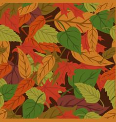 foliage vintage seamless pattern vector image