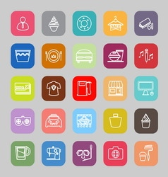 Franchisee business line flat icons vector image