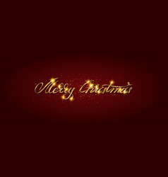 gold merry christmas card vector image