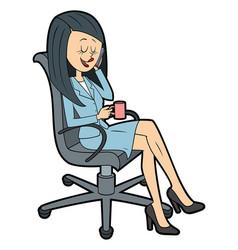 gossip office girl vector image