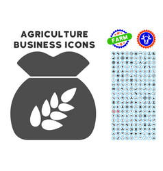 Grain harvest icon with agriculture set vector
