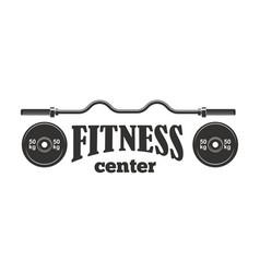 gym sport club fitness emblem vector image