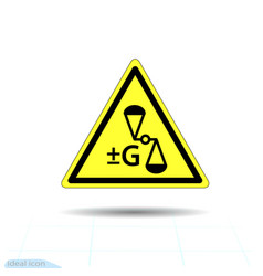 Hazard warning anti gravity change gravity sign vector