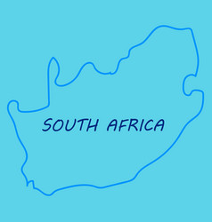 High detailed map - south africa vector