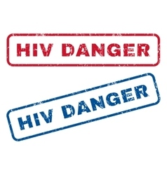 HIV Danger Rubber Stamps vector
