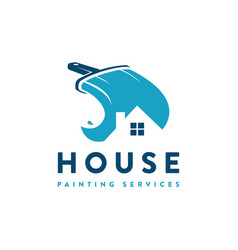 house painting service logo icon vector image