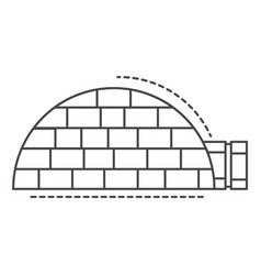 Igloo house icon outline style vector