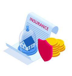 insurance house and capital money concept vector image