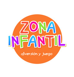 Kids zone - zona infantil game banner design vector