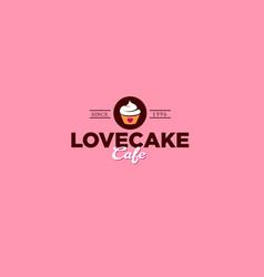 love cake logo vector image