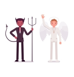 Male angel and devil vector image