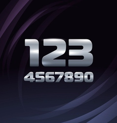 Metallic Movie Trailer Digits vector image