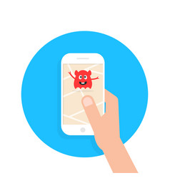 monster attack like mobile game vector image