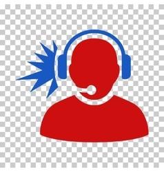 Operator headphones signal icon vector
