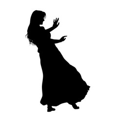 oriental belly dancer woman coquette silhouette vector image