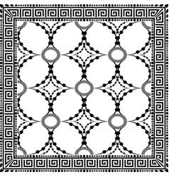 Ornamental decorative black and white greek key vector