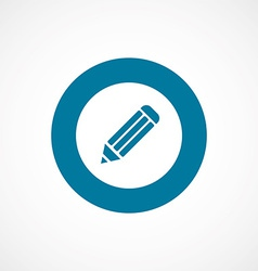 Pencil bold blue border circle icon vector