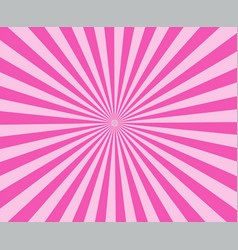 pink modern stripe rays background pink sunburst vector image
