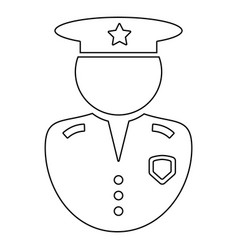 Police officer outline icon black and white vector