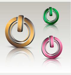 power on logo vector image