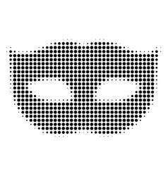 privacy mask halftone icon vector image
