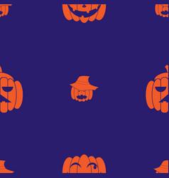 pumpkin seamless01 vector image