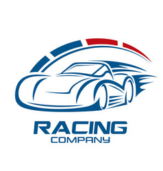 Racing car and logo speed vector