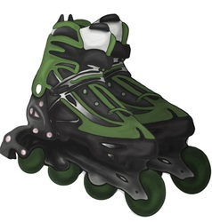 Roller-skates fitness foot footwear fun graphic vector image