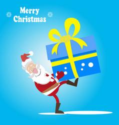 santa and a great gift vector image