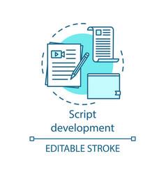 Script development concept icon vector
