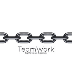 seamless chain teamwork concept on white vector image