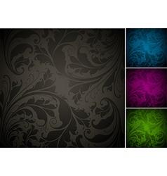 Seamless Floral Background Set vector image