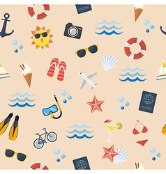 Seamless summer flat pattern vector image