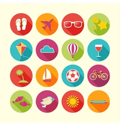 set summer objects vector image