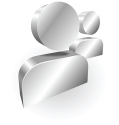 silver people icon messanger vector image