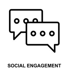 Social engagement vector