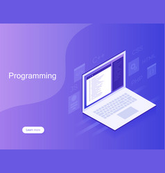 Software development and programming vector