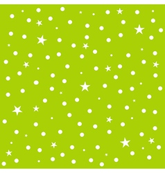 Star Polka Dot Green Background vector