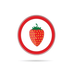 strawberry red sign vector image