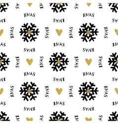 Trendy Xmas seamless pattern with Merry Christmas vector image