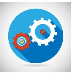 Troubleshooting Symbol Gears Icon on Stylish vector image