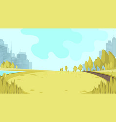 view panorama city park center big metropolis vector image