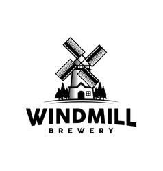 windmill logo design inspiration vector image