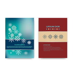 winter background design of white snowflake with vector image