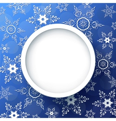 Winter background with decorative snowflakes vector image vector image