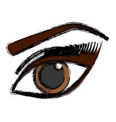 Female eye icon vector