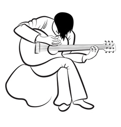 Guitarist playing the guitar vector image vector image