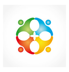 Hand rotation people vector image vector image
