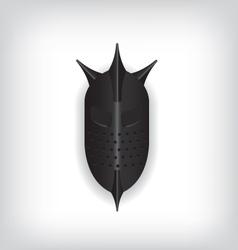 Medieval black warrior helmet vector image vector image